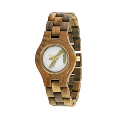 Criss Thurja Army Wood Watch