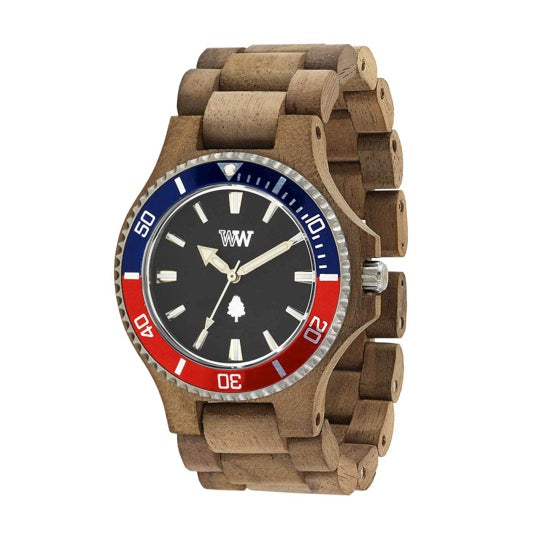 Date MB Wood Watch
