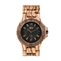 Date Zebrano Wood Watch