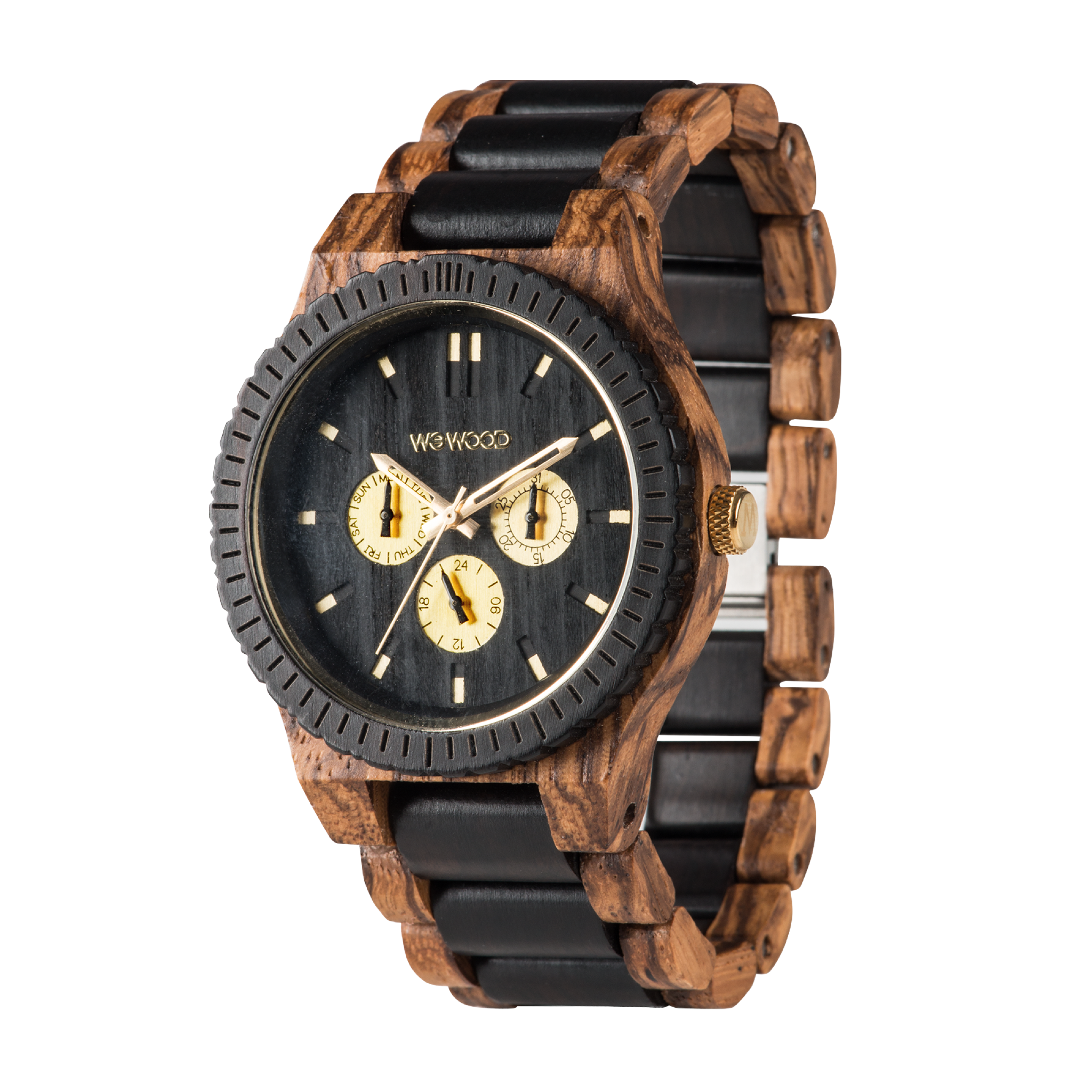 Kappa Zebrano Wood Watch