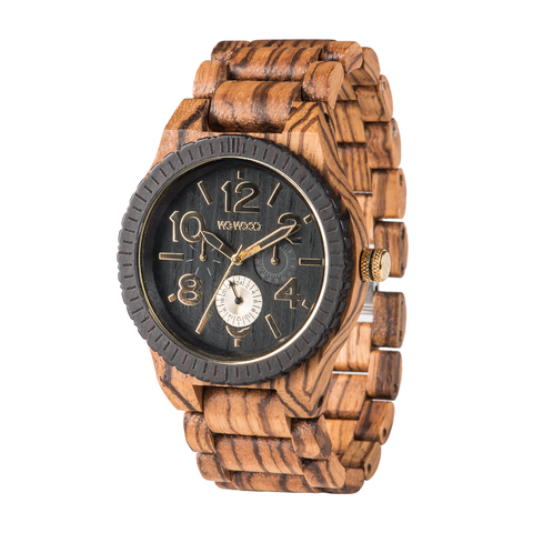 Kardo Zebrano Wood Watch