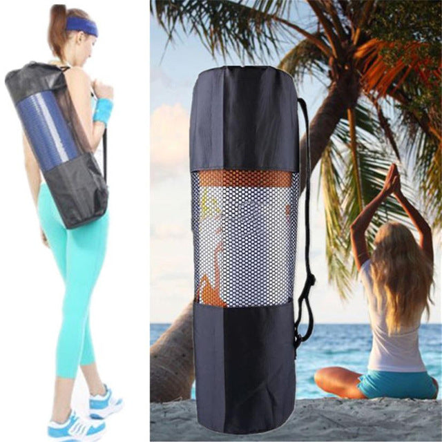 Black Outdoor Yoga Mat Roller storage Bag With