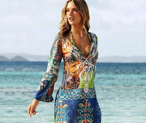Summer Style Women Sexy Swimsuit Cover Up Long Sleeve