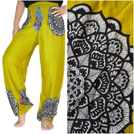 LOTUS Women Boho Yoga pants