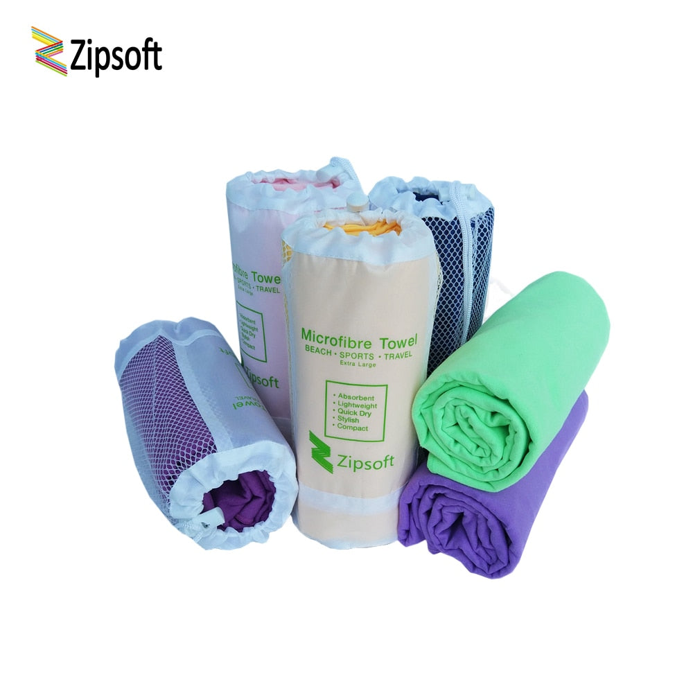 Zipsoft  Ultralight Compact Quick Drying Towel Microfiber Antibacterial Beach