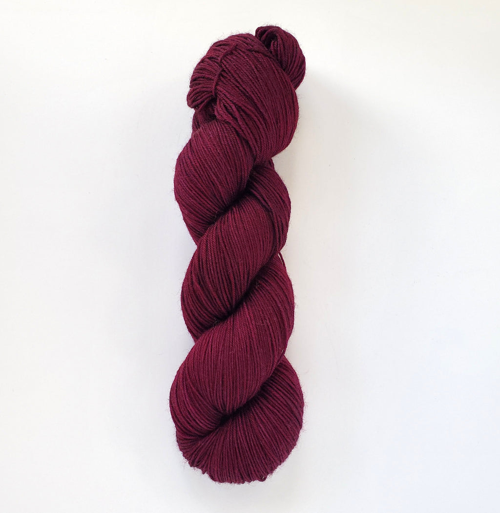 Anita Hand Dyed Yarn Semi Solid Burgundy