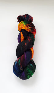Burst Hand Dyed Yarn Rainbow
