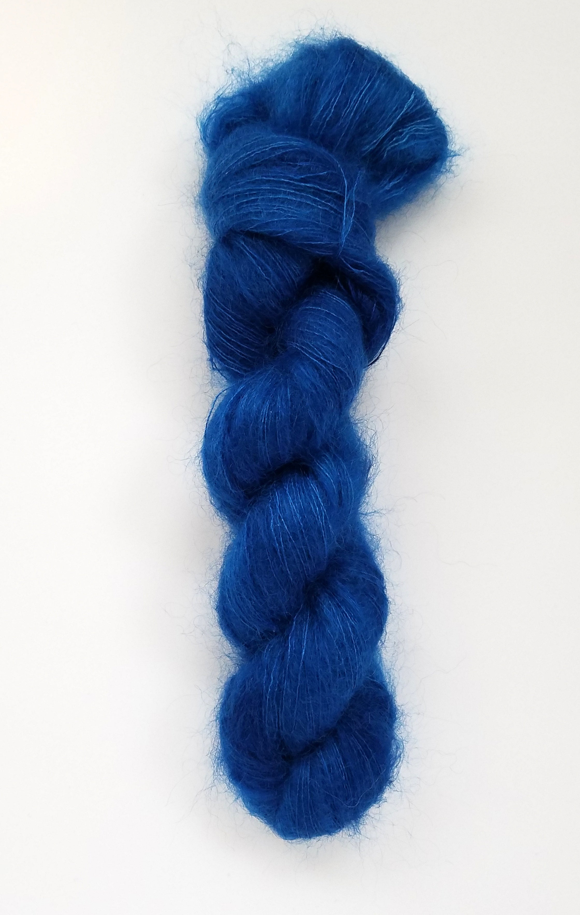 Delphine Hand Dyed Yarn Semi Solid Blue