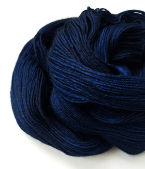 Indi Hand Dyed Yarn Semi Solid Dark Blue