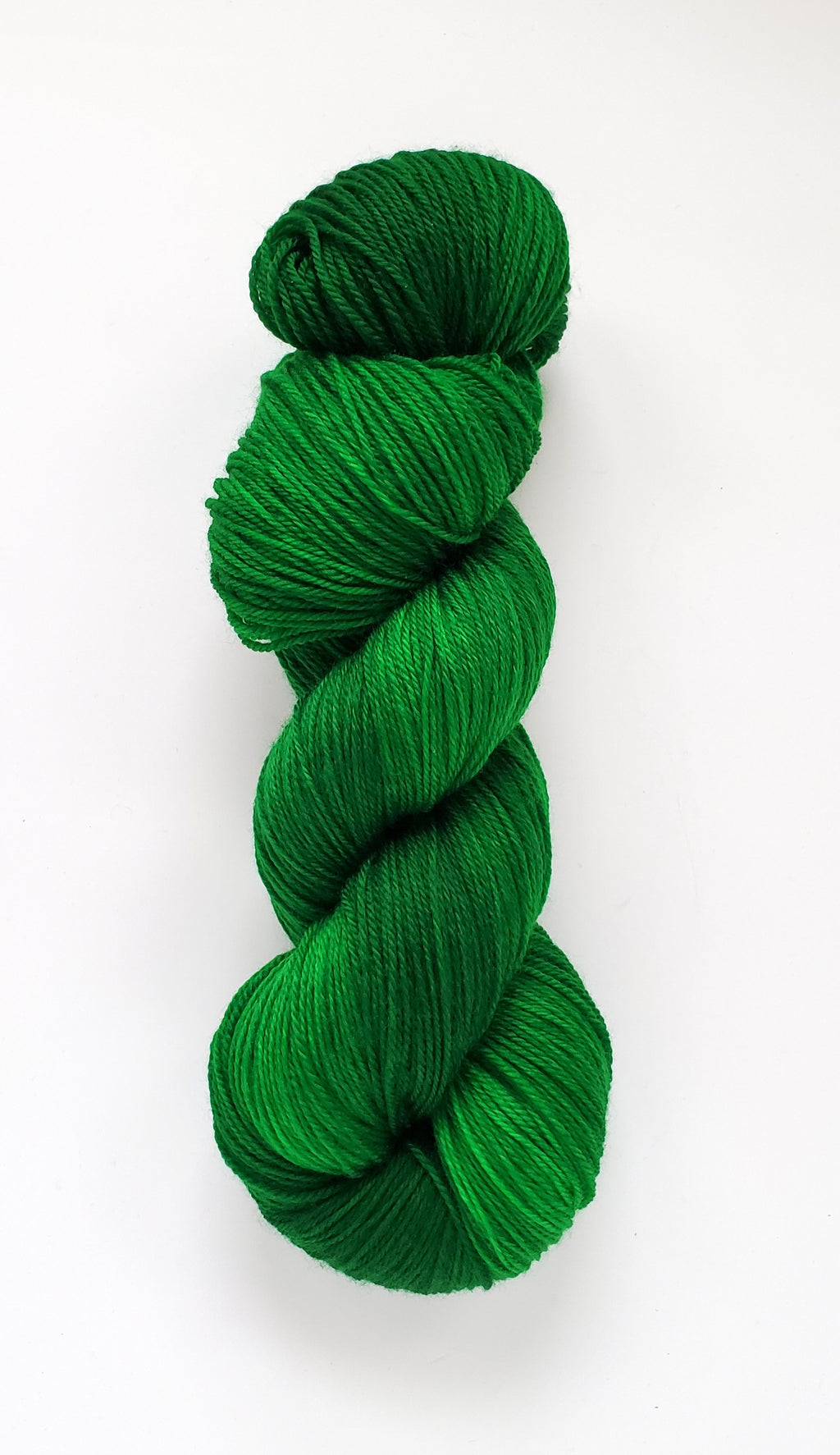 May Baby Hand Dyed Yarn Semi Solid Emerald Green