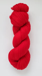 Miss Ruby Hand Dyed Yarn Semi Solid Red