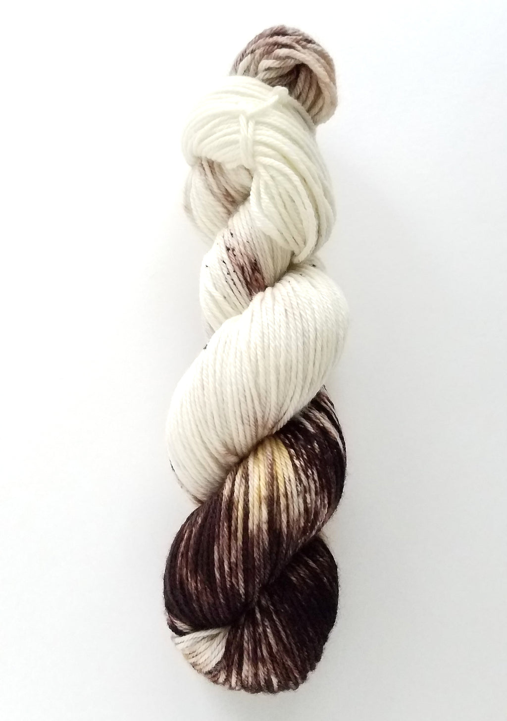 Mom's Vanilla Coffee Hand Dyed Yarn