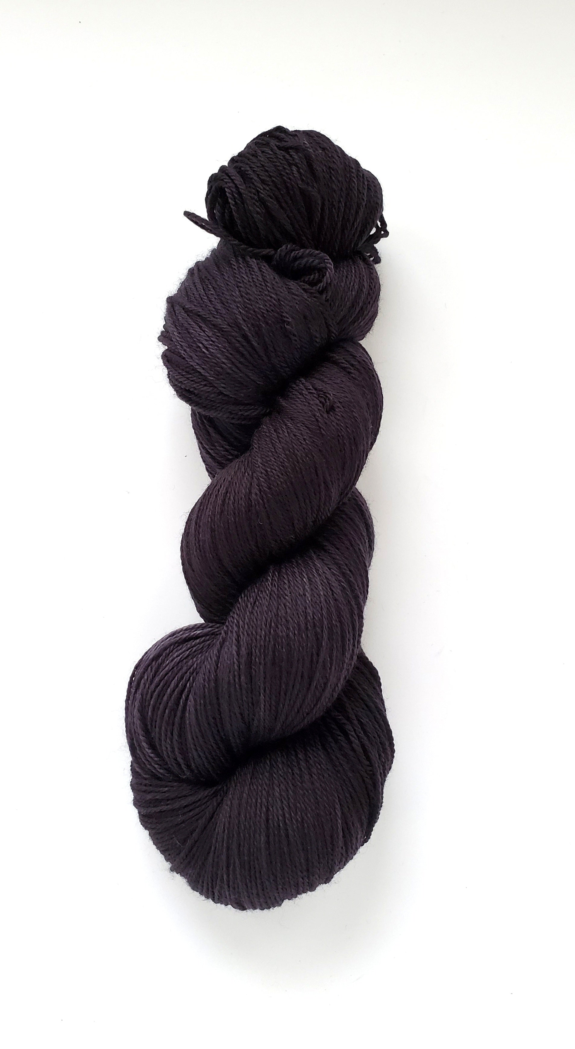 Onyx Hand Dyed Yarn Semi Solid Black