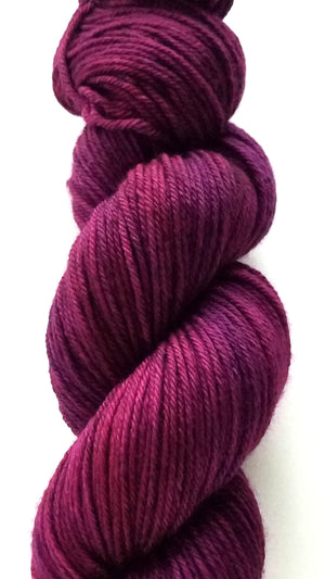 Ophelia Hand Dyed Yarn Semi Solid Orchid
