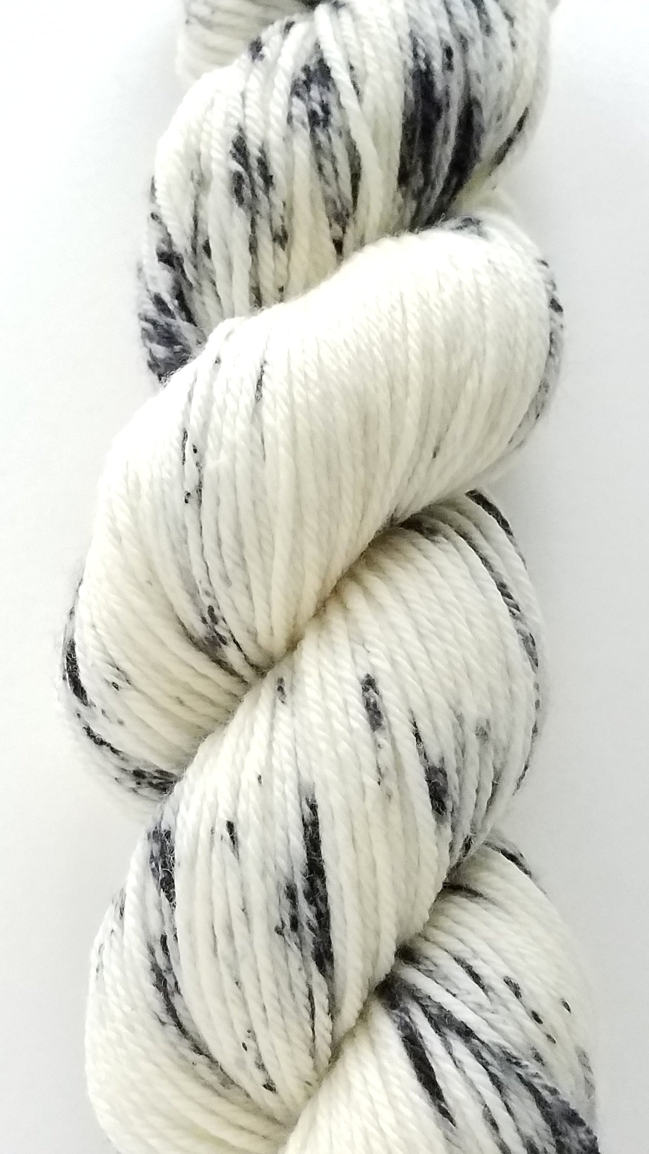 Peppery Hand Dyed Yarn Black Speckle