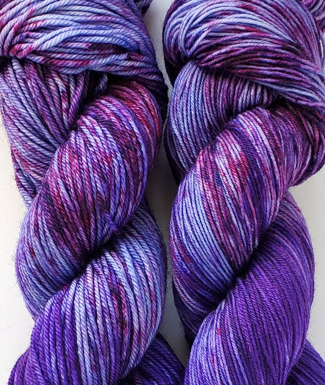 The Sky Was All Purple Hand Dyed Yarn LIMITED