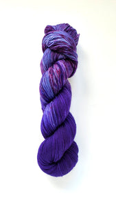 The Sky Was All Purple Hand Dyed Yarn Color of the Month May