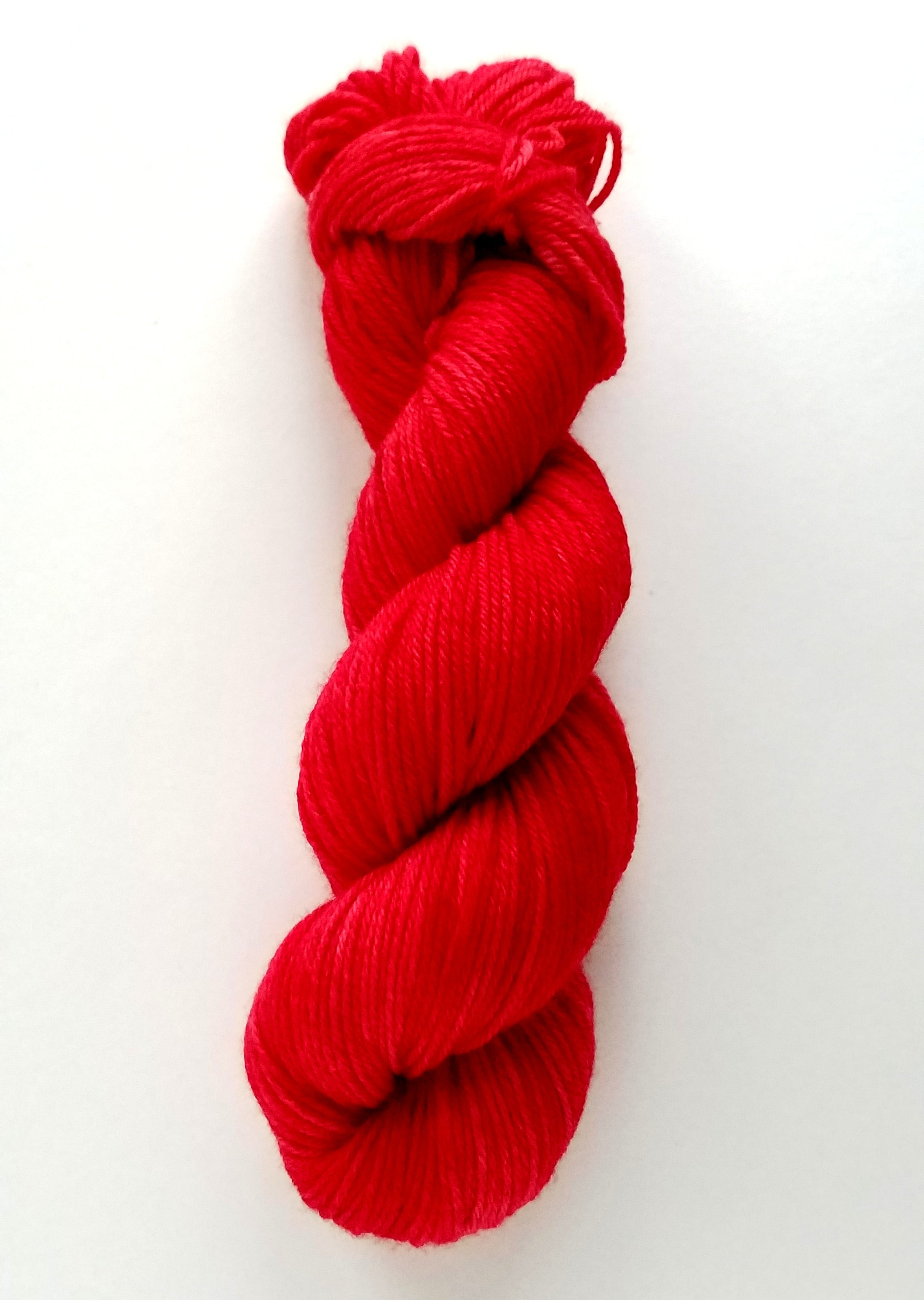 Rosa Hand Dyed Yarn Semi Solid Pink Red