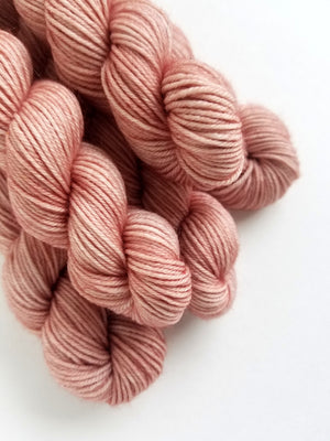 Sofia Mini Skein Hand Dyed Yarn Semi Solid Pink