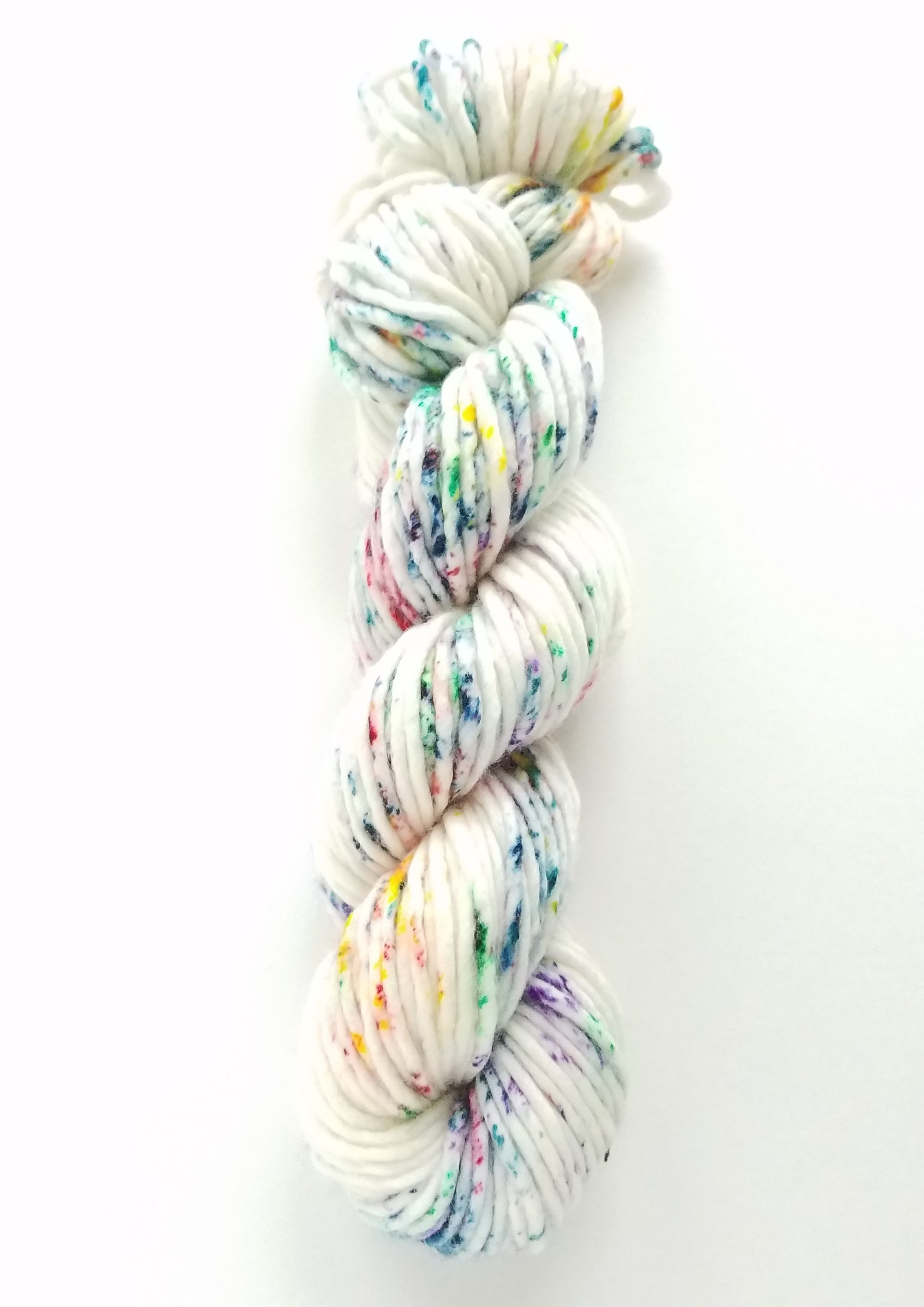 Sprinkle City Hand Dyed Yarn Rainbow Speckle