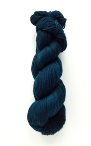 PREORDER WORSTED Thalisa Hand Dyed Yarn Semi Solid Dark Teal