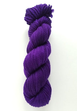 Violetta Hand Dyed Yarn Semi Solid Purple