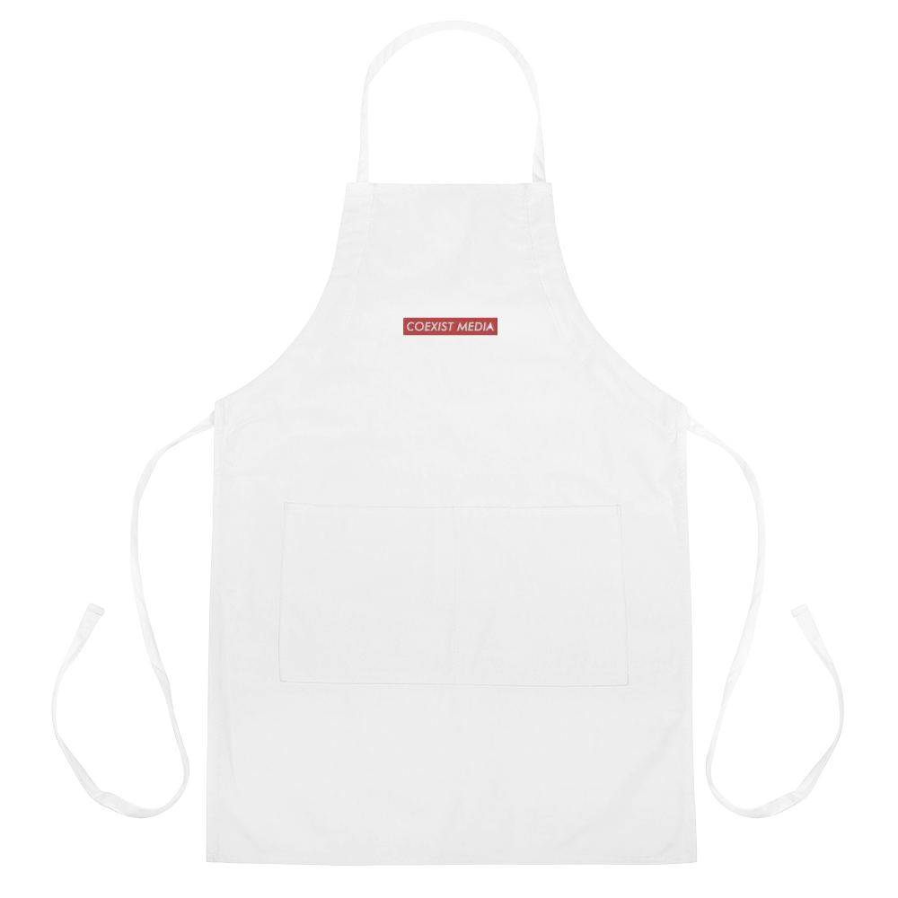 Coexist Media - Embroidered Apron