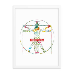 Vitruvian Coexist - Framed photo paper poster