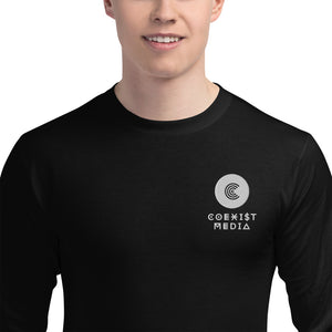 Coexist Media - Embroidered Champion Long Sleeve Shirt