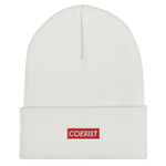 Coexist RED - Cuffed Beanie