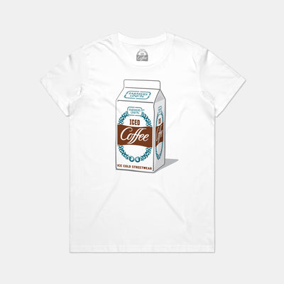 Ladies Carton Tee - White