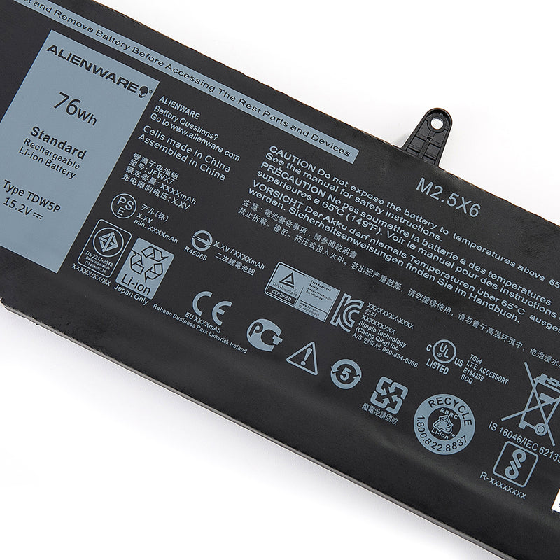 New Dell Alienware 13 R3 Battery 76Wh 14.8V