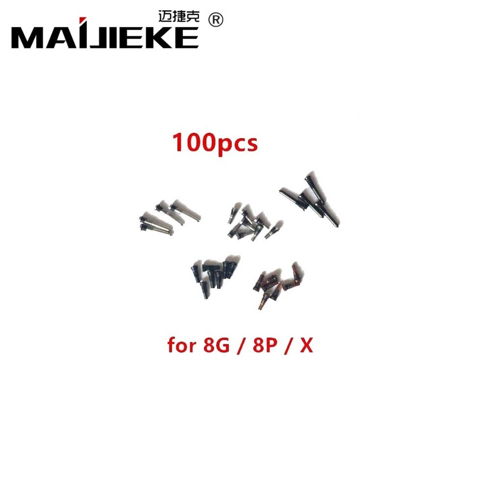 100PCS MAIJIEKE Bottom Screws for Apple iPhone XS max Pentalobe Screw Spare Part for iPhone XS X 8 8