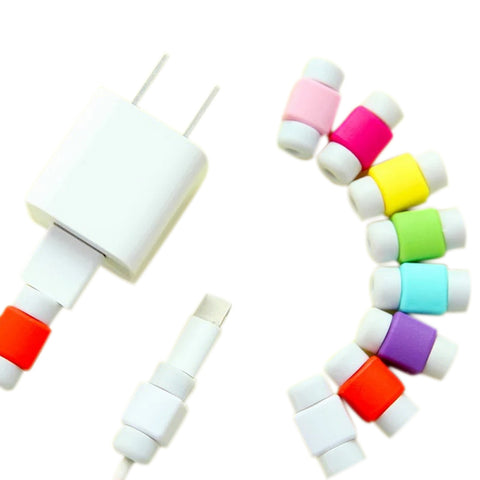 10Pcs/Set Mini USB Cable Protector for iPhone 6/7/Plus iPad Data Earphone Cables Protected Cover