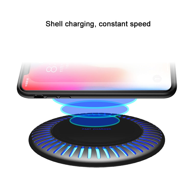 10W Fast Wireless Charger For Samsung Galaxy S9/S9+ S8 S7 Note 9 S7 Edge USB Qi Charging Pad for