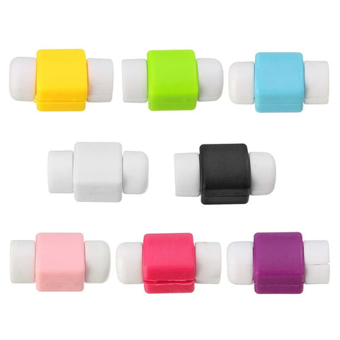 10pcs/lot USB Data Cable Earphone Cords Protector Colorful Earphones Cover For Apple for iPhone 4