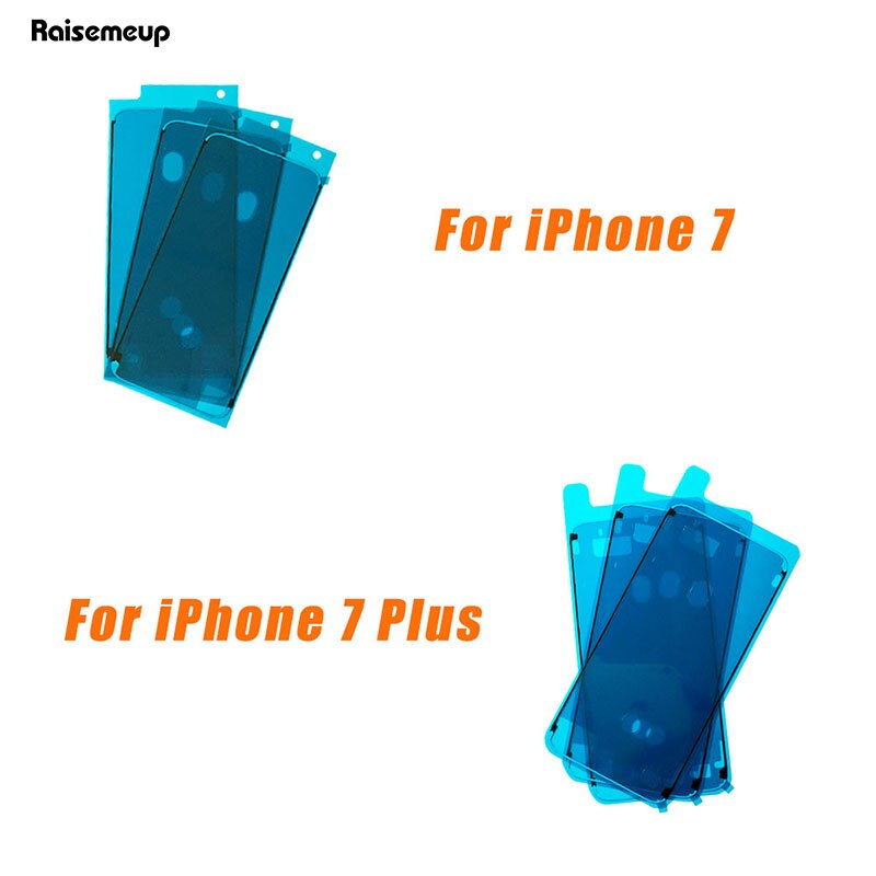 10pcs/lot Waterproof Adhesive Sticker For iPhone 6S 7 7G 8 plus X Front Housing 3M Pre-Cut Glue