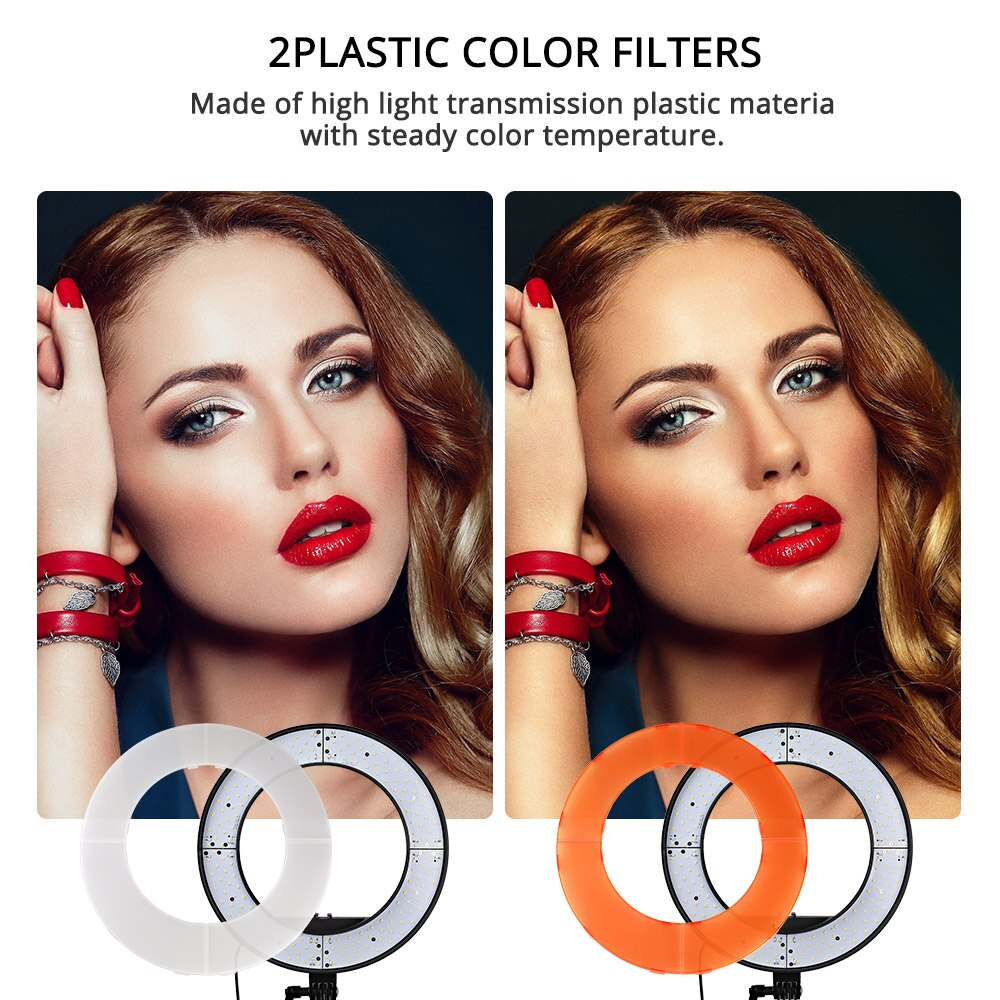 "18"" LED Selfie Ring Light 20W Studio Youtube Light Photography Photo Fill Ring Light with Tripod for"