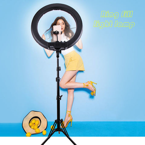 "18"" LED Selfie Ring Light 20W Studio Youtube Light Photography Photo Fill Ring Light with Tripod for iphone Smartphone Makeup"