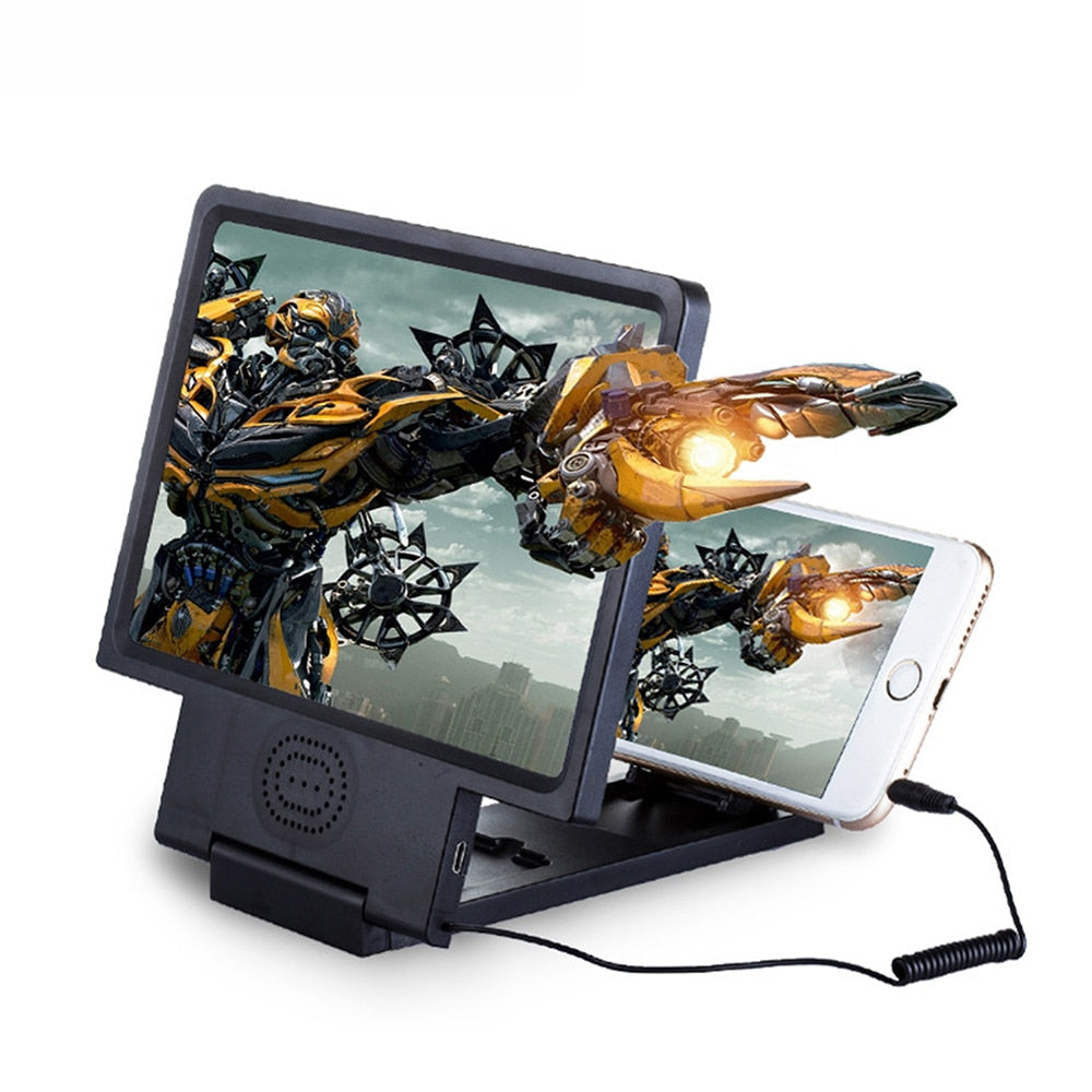 1pc Phone Screen Magnifier Cellphone Projector Enlarged Amplifier Mobile Bracket Desktop Holder