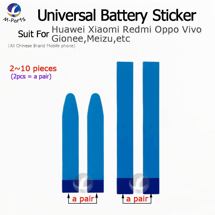 2~10 pcs Universal Battery Adhesive Sticker For Huawei Xiaomi Vivo Redmi Oppo Gionee etc Easy to