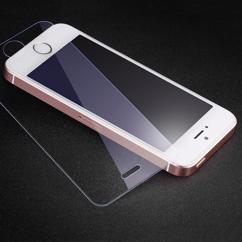 2 Pack Screen Protector For iPhone 5 5s Tempered Glass For iPhone 5 6 7 8 X 10 2.5D 0.26MM