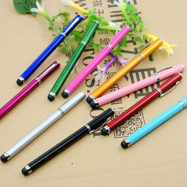 2 in 1 Ball Point Capacitive Screen Stylus Touch Pen For IPhone 8 7 6 5 IPad Samsung Cell Phone