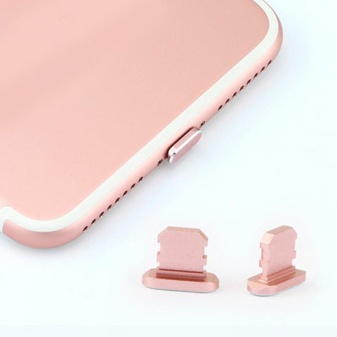 Metal Skin PC Charger Port Anti Dust Plug Cap Stopper Cover For IPhone 7