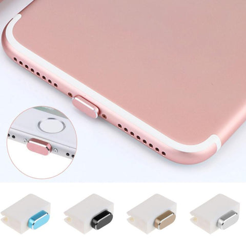 2018 Metal Skin PC Charger Port Anti Dust Plug Cap Stopper Cover For IPhone 7