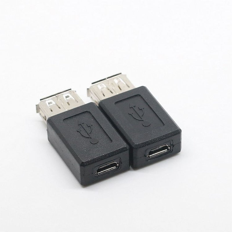 2018 New Black USB 2.0 Type A Female to Micro USB B Female Adapter Plug Converter usb 2.0 to Micro
