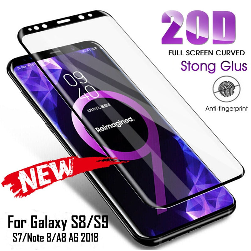 20D Full Curved Tempered Glass For Samsung Galaxy S8 S9 Plus Note 9 8 Screen Protector For Samsung