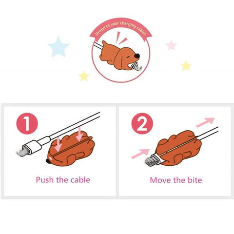 20Pieces Animal Bites Cable Organizer for iPhone Cable Animal Bite Protector Cord Cute Animal