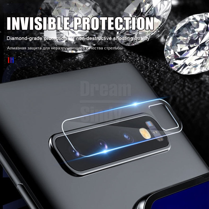 2Pcs Lens Protector Glass On The For Samsung Galaxy S8 S9 S10 Plus S10e Tempered Glass Note 8 9