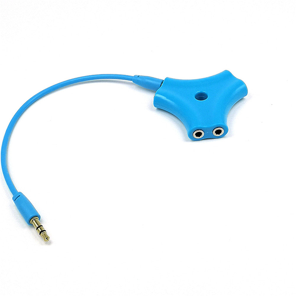 3.5mm Earphone Stereo Audio Splitter Headphone 1 Male To 5 Male Port Cable Cord Jack Headset 6 Ports